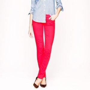 J.Crew Pink Matchstick Jean in Garmentdyed Denim
